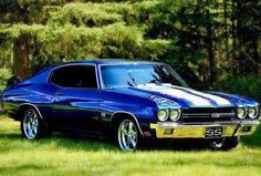 1970 Chevrolet Chevelle SS with the 454 cui big block Chevy Chevelle Ss, Chevy Ss, Chevrolet Auto, Camaro Zl1, Chevrolet Ss 1970, Chevy Pickups, Buick, My Dream Car, Dream Cars