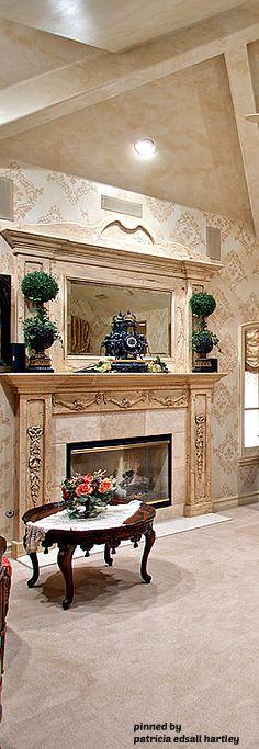 Mediterranean/Tuscan/Old World Decor World Decor, Fireplaces, Old World, My House, Decor Ideas, Luxury, Home Decor, Fireplace Set, Fire Places