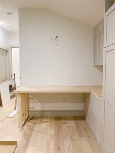 How to: Whitewash butcher block desk Butcher Block Countertops Kitchen, Butcher Block Desk, Desk Legs, Window Benches, Water Based Stain, Minwax, Whitewash, Raw Wood, Types Of Wood