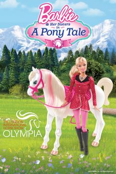 """#PonyTale - Katie would love this! Win this fab Barbie Horse and Doll from her new movie """"A Pony Tale"""" and a family ticket* to the world renowned London Olympia Horse Show!  For a chance to win, Pin """"Train And Ride Feature Horse Barbie"""" from Tesco direct, with #PonyTale in the description. Competition closes 06/12/13, open to UK residents only."""