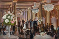 The Jefferson, Richmond, VA   Live Wedding Painting