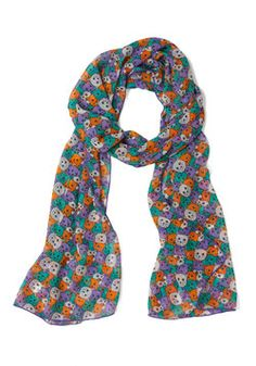 Meow or Never Scarf, #ModCloth