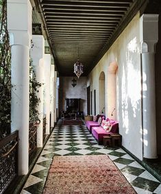 5 Beautiful Riads in Marrakech :: This Is Glamorous Riads In Marrakech, Medina Marrakech, Morrocan Decor, Moroccan Furniture, Moroccan Art, Cedar Door, Outside Living, Courtyard House, Architects