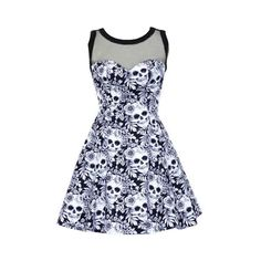 >> Click to Buy << Women Dress 3XL Oversize Gothic Floral Skull Mesh Splicing Dresses Mini Sleeveless Sexy 2017 Summer A-Line Casual Cute Fashion  #Affiliate