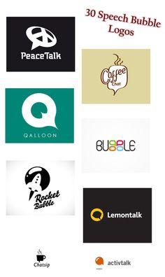 DYT bubble logos 30 Speech Bubble Logos – The Thinking Symbol