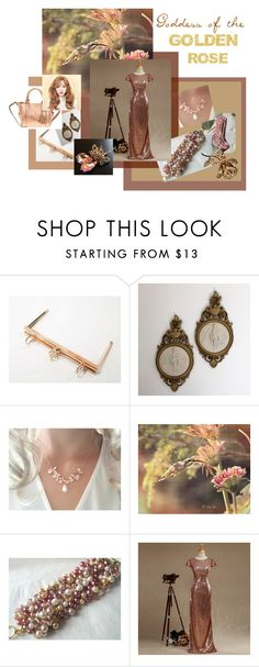 """""""Goddess of the Golden Rose"""" by seamsvictorian ❤ liked on Polyvore"""
