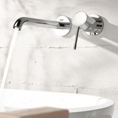 Grohe Essence 2-Loch-Waschtischbatterie, für Wandmontage Ausladung: 183 mm - 19408001 | Reuter Onlineshop
