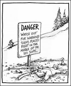 Seriously! I'm more scared about hitting a warning sign than a tree.