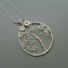 Celtic knot leaves wire wrap tree