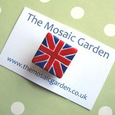 Union Jack Brooch by The Mosaic Garden on Folksy £3.50