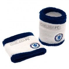 CHELSEA FC Wristbands / Sweatbands in club colours and featuring the club crest. Set of two. Elasticated so one size fits all. Approx 7cm wide. Official Licensed Chelsea FC gift. PRICE INCLUDES DELIVERY