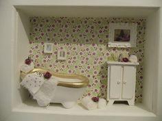 Quadro cenário lavabo - Toalet Lady