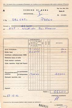 Autorizzazione per O.S.P. in Piazza Navona - dicembre 1986 - PAOLO SLVATI.