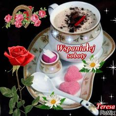 Good Morning Funny, Beautiful Roses, Birthday Wishes, Cooking Recipes, Hapy Day, Nice Quotes, Bonjour, Polish, Pictures