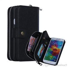 Zipper 2 In 1 Pu Leather Cover Case With Card Slot Wallet Case Cell Phones Cases For Samsung Galaxy S5 Heavy Duty Cell Phone Cases Spigen Cell Phone Cases From Soundmae9, $7.32| Dhgate.Com