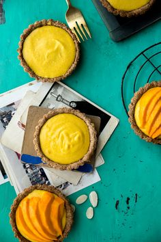 mango and coconut tartlets