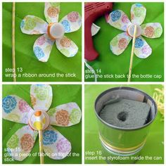 A wonderful way to recycle, help Earth and make your yard look beautiful! Recycled Bottle Crafts, Water Bottle Crafts, Plastic Bottle Crafts, Recycled Crafts, Water Bottles, Plastic Bottles, Crafts To Do, Crafts For Kids, Water Bottle Flowers