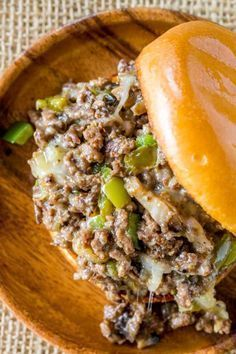 Philly Cheese Steak Sloppy Joes can also be made in a skillet.