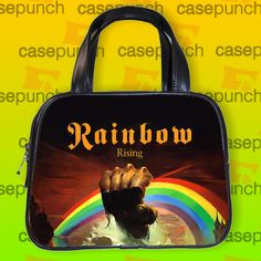 An4-rainbow Long Live Rock N Roll Handbag Purse Woman Bag Classic
