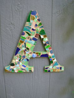 A is for Andrea...in mosaic! I love it when I find a double whammy!