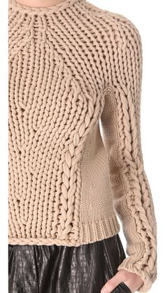 Okay, who wants to draft the pattern? Alexander Wang Seamless Hand Knit Pullover