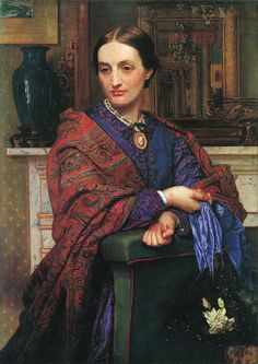 Portrait of Fanny Holman Hunt, 1868 by Уильям Холман Хант. Романтизм. портрет. Private Collection
