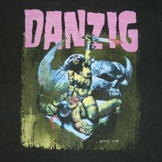 Vintage DANZIG 1992 HOW THE GODS KILL TOUR T-Shirt original