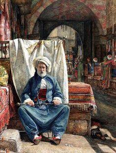John Frederick Lewis In the Bezestein, El Khan Khalil, Cairo watercolor Blackburn Museum & Art Gallery Jean Leon, Empire Ottoman, Museum Art Gallery, Islamic Paintings, Academic Art, Pics Art, Arabic Art, Italian Painters, Historical Art