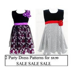 aliza likes this dress...  Sewing Pattern Girls Dress  2  Party Dress by ThreadCouture, $11.99