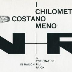 Progetto grafico di Bob Noorda, (1927-2010).
