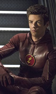 "Arrow 3x08 (Flash crossover) - Barry Allen in the Foundry. (This is called the ""Pissed-off Barry"" face)"