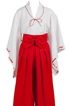 Womens Miko Costume Kikyo Style Japanese Cosplay (XL) - Brought to you by Avarsha.com