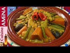 كسكس مغربي بالخضر و الدجاج ولا أروع بخطوات جد مبسطة و ناجح %100 - YouTube Arabic Food, Guacamole, Green Beans, Mexican, Orient, Vegetables, Ethnic Recipes, Cuisine, Moroccan Cuisine