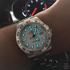 Early morning lume. @rolex Explorer II ref. 216570 #watches #watchlife #timepieces #thegoodlife #watchgeek #polarexplorer #rolex #timepieces #horology #wristgame #watchlife #watchporn #watchcollector #watchcollectinglifestyle #watchcollecting #wcl...