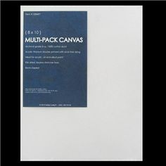 """8"""" x 10"""" Stretched Canvas Multi-Pack, $3.99 for a set of 2. Hobby Lobby"""