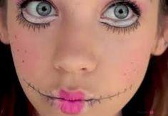 Billedresultat for evil doll makeup