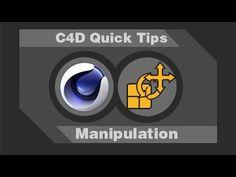 Quick Tips - Manipulation Select Cinema 4d Tutorial, 3d Tutorial, After Effect Tutorial, Mo Design, Good Tutorials, Cgi, Motion Graphics, Tips, Adobe