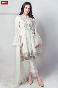 Maria B Suit Off White SF-1546 Evening Wear 2017 Price in Pakistan famous brand online shopping, luxury embroidered suit now in buy online & shipping wide nation..