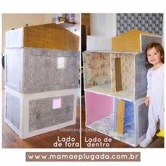 Faça você mesmo: Passo a passo Casa da Barbie com caixas de papelão