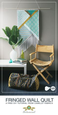 How To's Day: Fringed Wall Quilt Tutorial | Camelot Fabrics. Freshly Made