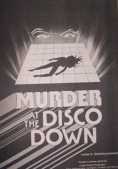 Murder at the Disco Down1970s 1980s