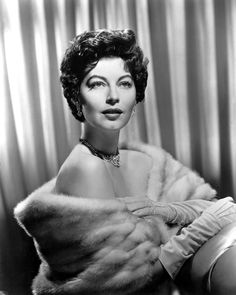 Ava Gardner (1922 - 1990)  The American actress signed, in 1941, a contract with MGM studios after Louis B. Mayer, head of the company, had declared 'she can't sing, she can't act, she can't talk, she's terrific!': an unusual praise! Her career was slowly launched and it was only during the 1950s that she was seen in important films with legendary roles such as Pandora or The Barefoot Contessa: she became the ultimate vamp and the 'most beautiful animal in the world'.