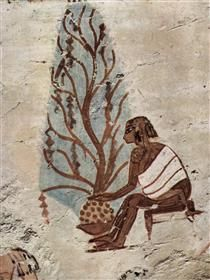 Mother with Child - Ancient Egypt Ancient Egyptian Paintings, Ancient Egypt Art, Old Egypt, Egyptian Art, Ancient History, Machu Picchu, African History, Egyptians, Archaeology
