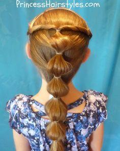 Princess Jasmine Hair tutorial (back view)