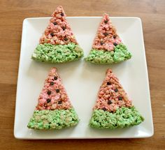 Watermelon Rice Krispy Treats
