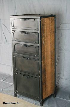 Vintage Industrial Lingerie Chest. Custom Rustic by leecowen Más #vintageindustrialfurniture #vintagerusticfurniture
