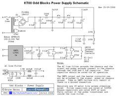 12SL7 / KT88 Tube Amplifier Power Supply Schematic