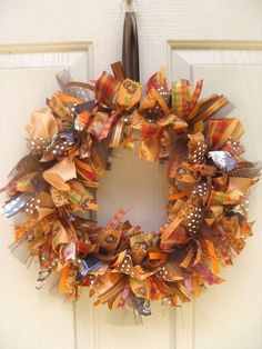 This ribbon wreath for Fall is gorgeous!