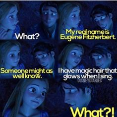 Eugene Fitzherbert vs magic glowing hair when I sing........which is more shocking?