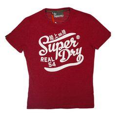 Superdry Mens Brush It Real Good Tee - Cherry Marl – Moyheeland Traders